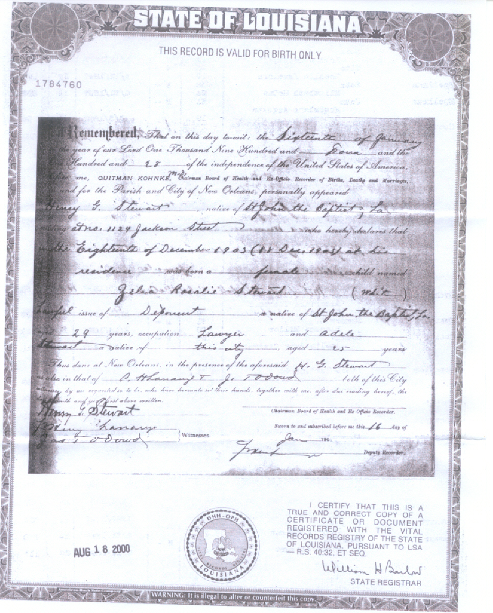 Birth Certificate For Zelia Rosalie Stewart Large 966x1200 10 Mb